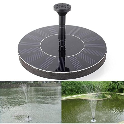 Watering Kits – 7v Solar Power Fountain Pump Panel Watering Kit Garden Plants Pool Pond Submersible Waterfall – Gardens Timer With For Pots Battery Flower