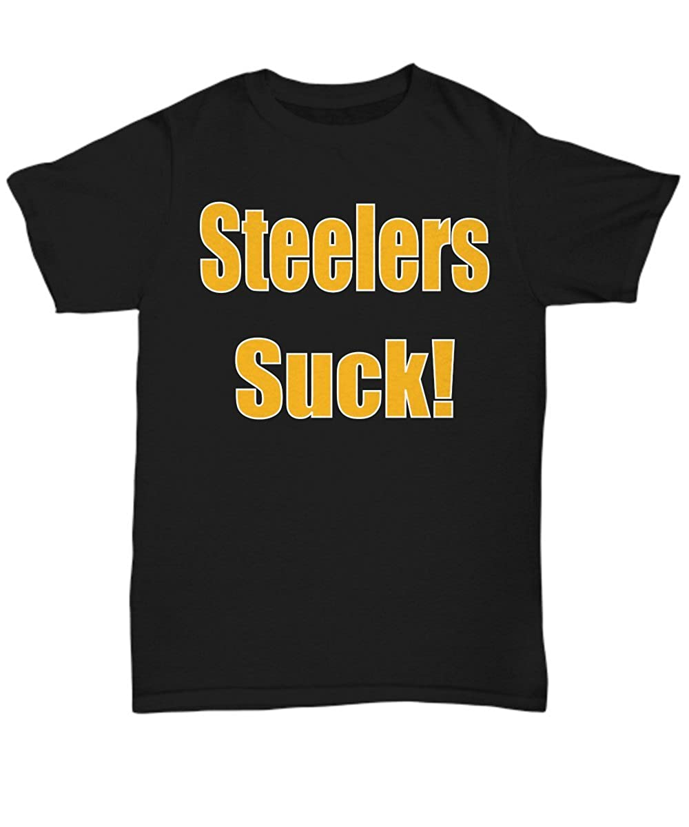 Il Corvo Steelers Suck Tshirt Pittsburgh Football Funny Shirt Tee Black
