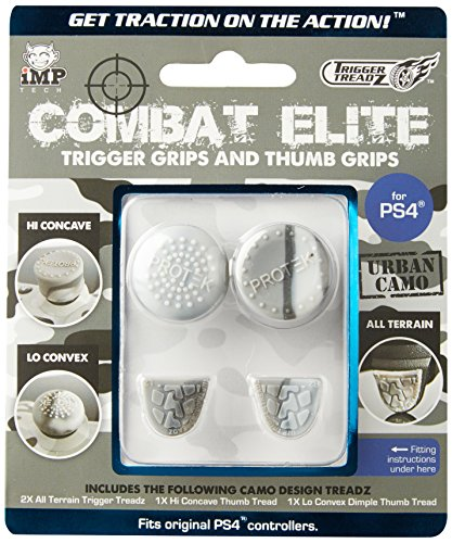 Snakebyte Trigger Treadz Combat Elite Thumb & Trigger Grips Pack - Urban Camo - PS4