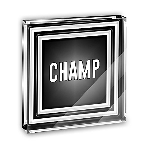 Ornament Champs (Champ You are a Winner Acrylic Office Mini Desk Plaque Ornament Paperweight)