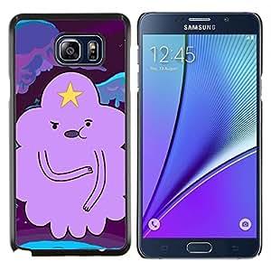 Carácter Nube Estrella Historieta púrpura- Metal de aluminio y de plástico duro Caja del teléfono - Negro - Samsung Galaxy Note5 / N920