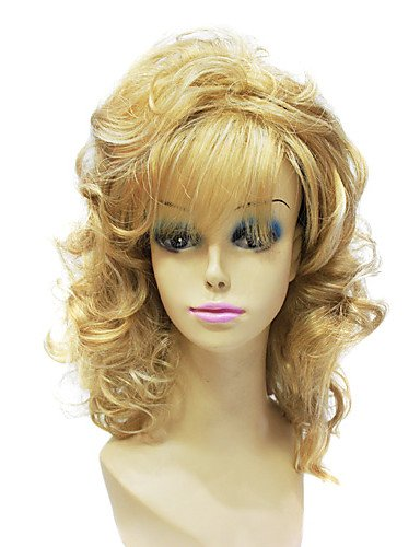 Wigs have an attractive convenience fashion Capless Synthetic Janpanese Long Curly Mixed Color Sexy Party Hair (Danny Sandy Costumes)