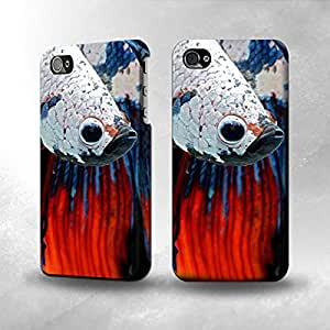 Apple iPhone 4 / 4S Case - The Best 3D Full Wrap iPhone Case - Siamese Fighting Fish