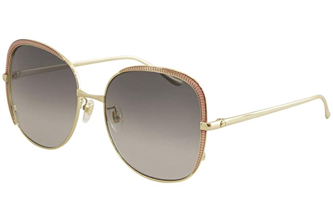 Amazon.com: Gafas de sol Gucci GG 0400 S- 001 GOLD/GREY ...