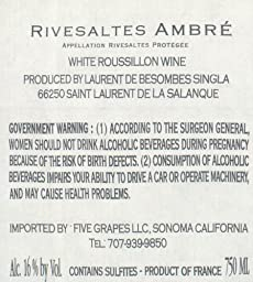 2005 Ambre Heritage du Temps Rivesaltes 750 mL Wine