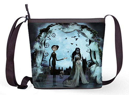 Female fabric Popular Shoulder Bags Crossbody Bags Sling Bag with Corps Bride Print (The Corpse Bride Emily)