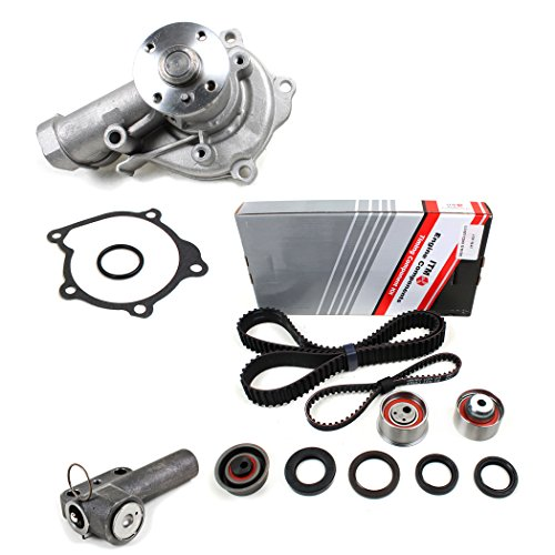 Laser Engine Water Pump - New ITM167HTA-3WP (153 Teeth) Timing Belt Kit, Hydraulic Tensioner (Auto Adjuster), & Water Pump Set Mitsubishi Eclipse Galant Eagle Talon Laser 2.0L Turbo 4G63 1990-92