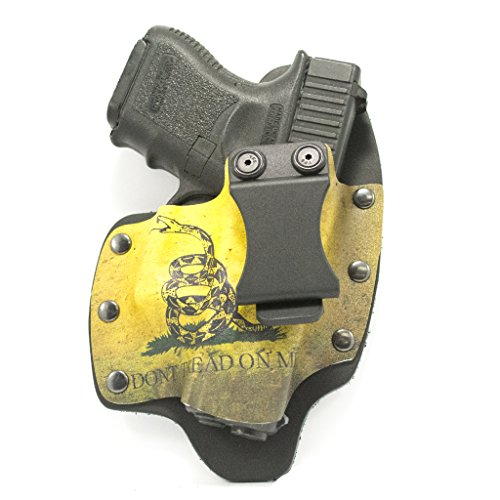 (Infused Kydex USA Don't Tread On Me IWB Hybrid Concealed Carry Holster (Right-Hand, Glock 17,19,22,23,25,26,27,28,31,32,34,35,41))