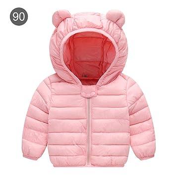 lolly-U Abrigos con Capucha de Invierno para niños Chaqueta de plumón Ligera para bebés, niñas, Abrigo de algodón 1: Amazon.es: Hogar