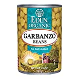 Eden Organic Garbanzo Beans, No Salt Added, 15-Ounce Cans (Pack of 12)