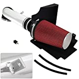 For Escalade Avalanche Suburban Silverado 1500 2500 3500 Sierra Denali Yukon 4.8L 5.3L 6.0L V8 High Flow Induction Air Intake System + Heat Shield Chrome Piping Kit