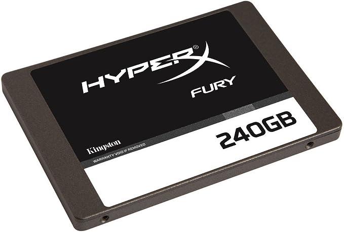 HyperX Fury - Disco Duro Interno Gaming SSD de 240 GB SATA 3 ...