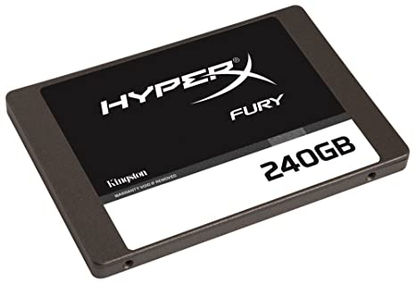 HyperX Fury 240GB SSD SATA 3 2.5 Solid State Drive (SHFS37A/240G) Internal Solid State Drives at amazon