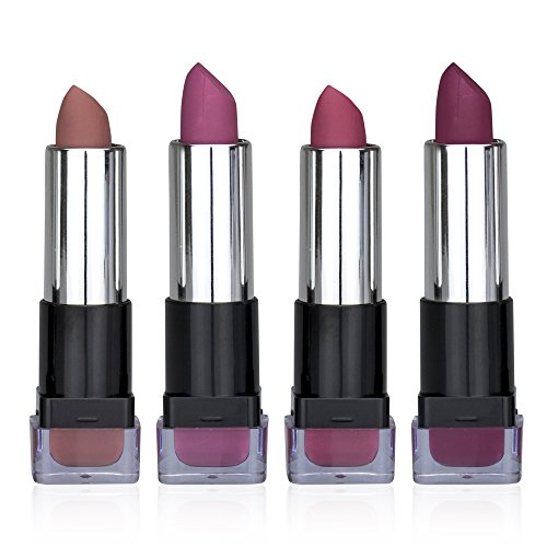Ellen Tracy Perfect Color Everyday Wear Matte Crème Lipstick Collection For Girls and Women (4 - Lip Glaze Enriched