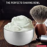 Perfecto Stainless Steel Shaving Bowl. Durable