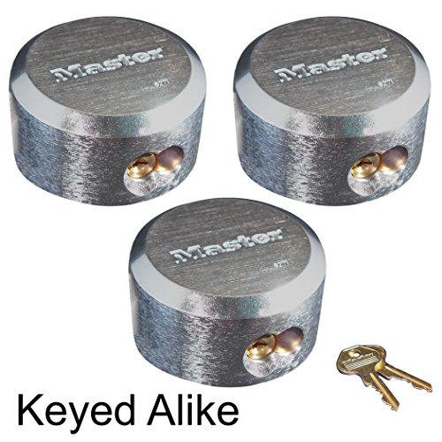 Master Lock - Hidden Shackle Locks Keyed Alike 6271KA-3