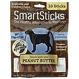 SmartBones SmartSticks Peanut Butter Dog Chews, 10-Count