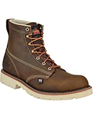 Thorogood Mens 6 Plain Toe Non-Safety Leather Work Boots
