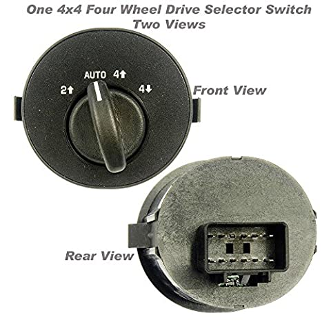 APDTY 012175 4WD 4x4 Four Wheel Drive Selector Switch Dash Mounted For 2004-2007 Buick Rainier / 2002-2009 Chevy Trailblazer / 2002-2009 GMC Envoy / 2002-2004 Olds Bravada (Replaces GM - Four Wheel Drive Transfer Case
