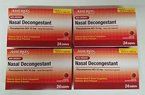 Assured Non Drowsy Nasal Decongestant, 96 Tablets (Compare to Sudafed PE) - Non Drowsy Decongestants