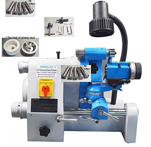 220V U3 Grinder Sharpener for End Mill R8 Collect Grinding Machine (Tool Post Grinder)