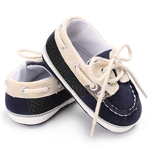 Igemy 1Paar Baby Mädchen Jungen Frenulum Mode Schuhe Sneaker Anti-Rutsch Soft Sole Kleinkind Marine