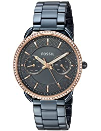 Fossil Women's 'Tailor' Quartz Stainless Steel Casual Watch, Color:Blue (Model: ES4259)