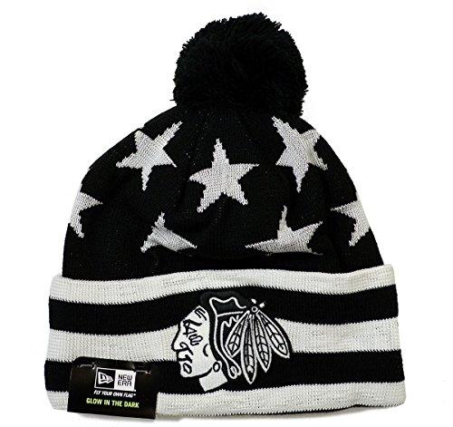 Chicago Blackhawks New Era Starry Night Cuffed Knit Hat with Pom
