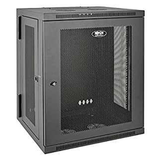 "Tripp Lite 15U Wall Mount Rack Enclosure Server Cabinet, Hinged, 20.5"" Deep, Switch-Depth (SRW15US) (B00NO06SE0) 