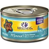 Wellness Complete Health Natural Grain Free Wet Canned Cat Food, Minced Tuna Dinner, 3-Ounce Can (Pack Of 24)