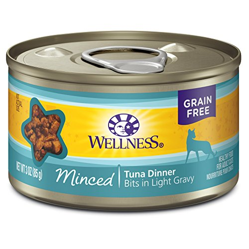 Fish Canned Food (Wellness Complete Health Natural Grain Free Wet Canned Cat Food, Minced Tuna Dinner, 3-Ounce Can (Pack of 24))