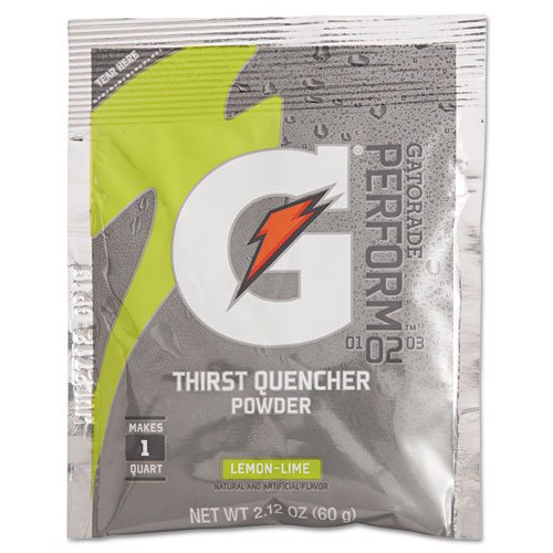 Gatorade G-Series Perform 02 Thirst Quencher, Lemon-Lime, 2.12oz Packet - 144 packets. by Gatorade