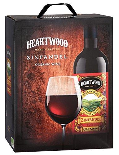 Heartwood - Bio Zinfandel Rotwein trocken Italien Apulien Puglia Wein Karton Bag-in-Box 13,5% Vol. - 3l