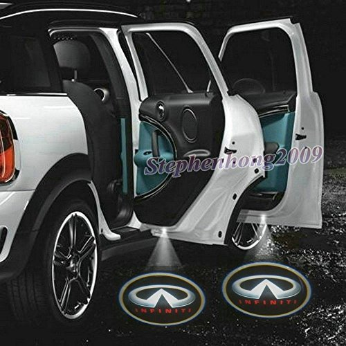 2 X 2014 Latest 6th Gen car door Shadow laser projector logo LED light for Infiniti All Ex Fx G M Series Jx35 Q50 Q70 Qx70 Qx50 G25 G35 M30 QX4 J30 I30 I35 Q45 Triant Kuraza Essence Etherea - I30 Projector Infiniti