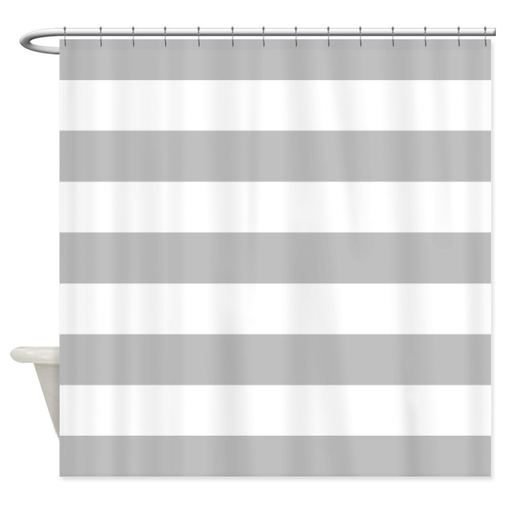 black and white striped shower curtain. Amazon com  CafePress Grey and white stripe Shower Curtain Decorative Fabric Home Kitchen
