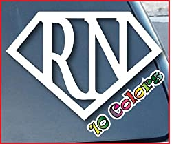 Super RN Nurse Car Window Vinyl Decal Sticker 4 Wide