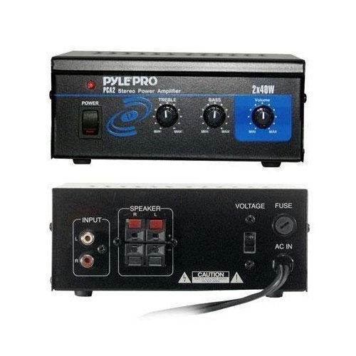 Pyle Home PCA2 80-Watt Stereo Mini Power Amplifier BASS Controls Best High Quality Sound Music by GADGETS-R-US