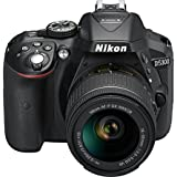 Nikon D5300 24.2MP Digital SLR Camera (Black) with AF-P 18-55mm f/3.5-5.6g VR Kit Lens, 16GB Card and Camera Bag