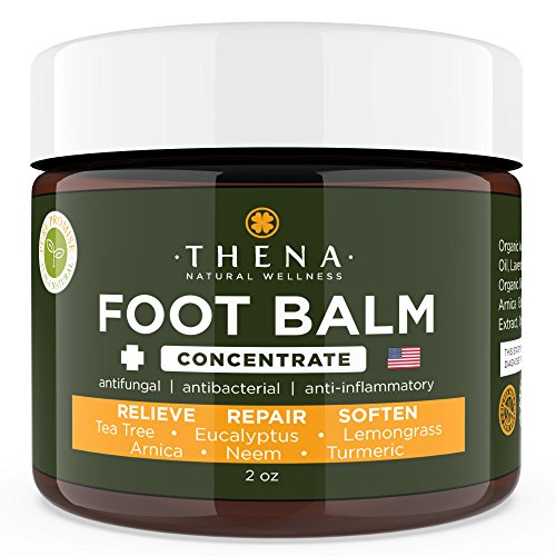 Tea Tree Oil Antifungal Foot Cream Concentrate Formula, Relieves Athletes Foot Dry Cracked Feet & Heel Itchy Skin Jock Itch Toenail Fungus Treatment Callus Ringworm, Best Natural Foot Care Ointment ()