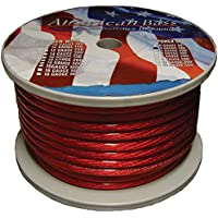 AMERICAN BASS AB1666(R) Wire 4 Ga. Red 100 Ft. Roll (2104r)