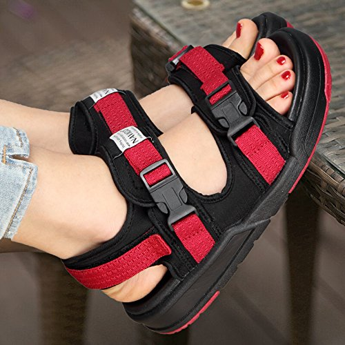 Lovers 1003 Summer Casual Shoes Red 39 Sandals Ladies Shoes Sandals Student Outdoor Lin Lady Sneakers Xing CwHqS0g
