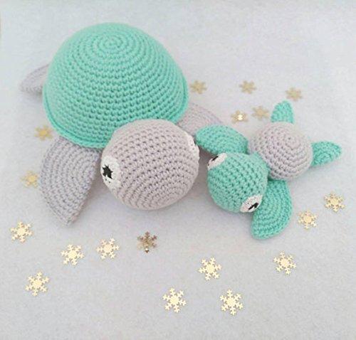 Tortuga amigurumi, tortuga a ganchillo,regalo de bebé, recién nacido ...