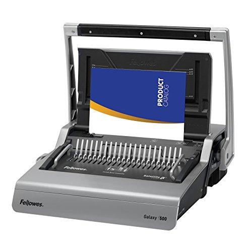 Fellowes 5218201 Galaxy 500 Manual Comb Binding System, 500 Sheets, 20 7/8 x 17 3/4 x 6 1/2, Gray (Service Binder Manual)