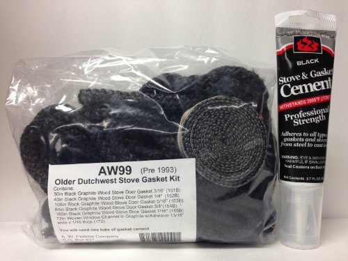 AW 99 Vermont Castings Dutchwest Stove Gasket Kit (pre-1993) Complete with adhesive GK-99
