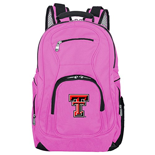 (NCAA Texas Tech Red Raiders Voyager Laptop Backpack, 19-inches, Pink)