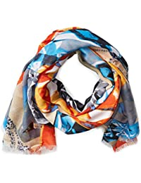 Women's Gem and Skull Fringe Scarf