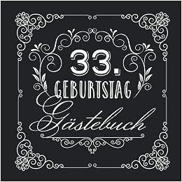 33 Geburtstag Gastebuch Vintage Deko Zur Feier Vom 33