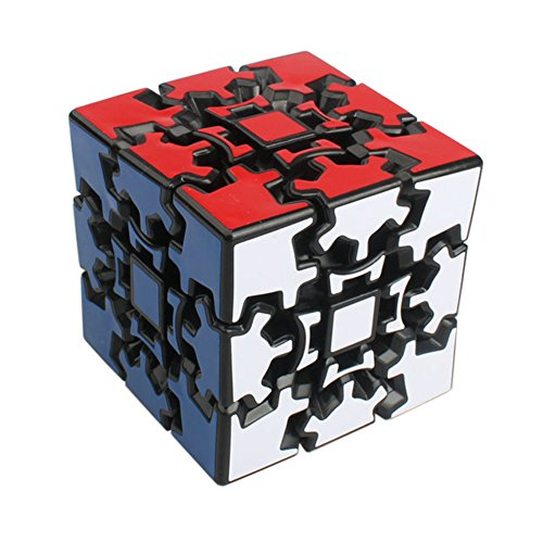 Magic combination 3D Gear Cube, 3 x 3 Speed Cube, Twisty Brain Teaser Game for Kids and Adults, Black (Gear Puzzle Cube)