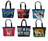 Shoulder Bag, Vegan Tote Bag, Handbag- Animals - From My Original Paintings - Support Wildlife Conservation, Read How