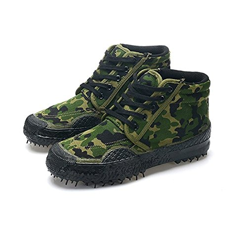 labaqiangj Unisex Lace up Camouflage Work Shoes Safety Shoes Hiking Boots